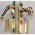 Lever and Pad Upvc Door Handles Gold